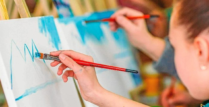 El V Certamen de Pintura al Aire Libre convierte a Villarrasa en el mejor lienzo