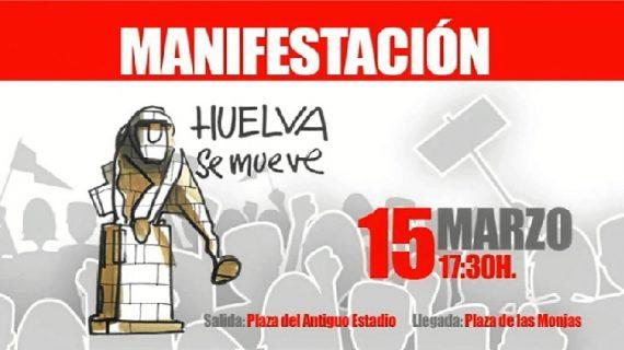 El ICAHuelva se suma a la manifestación por las infraestructuras del 15-M