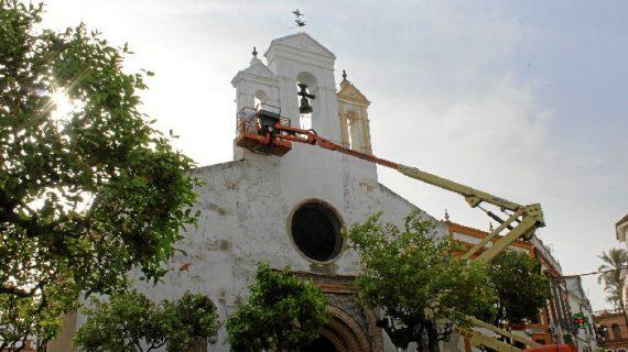 La Palma del Condado inicia la restauración de la fachada de la Iglesia del Valle