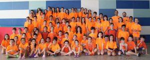 Los participantes en la primera jornada de Los Juegos Deportivos Municipales de Natación.