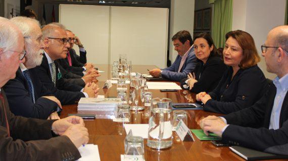 El onubense Fidel Astudillo preside la intelocución de los veterinarios andaluces con la consejera Carmen Crespo