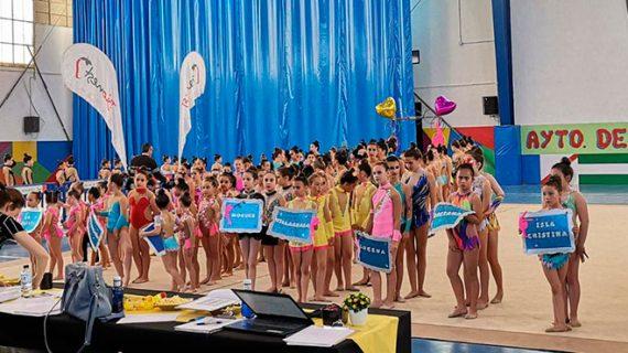 Éxito de participación en el XXII Torneo de Gimnasia Rítmica Villa de Almonte