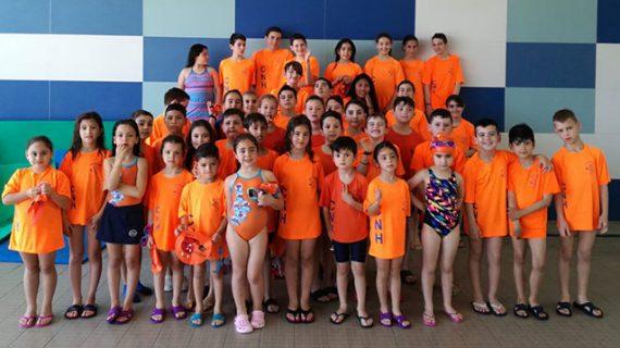 Más de un centenar de nadadores toman parte en la segunda jornada de los Juegos Deportivos Municipales de Natación