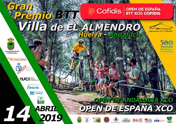 Cartel anunciador de la prueba ciclista que tendrá lugar en El Almendro el próximo 14 de abril.
