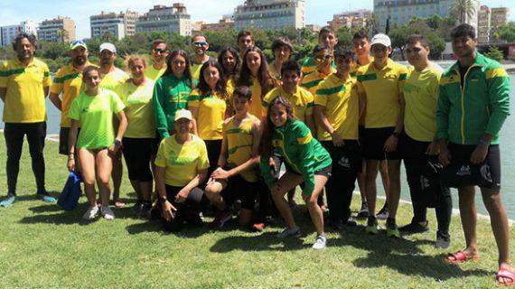 Festival de medallas del Club Tartessos en el Campeonato de Andalucía de Piragüismo de Velocidad