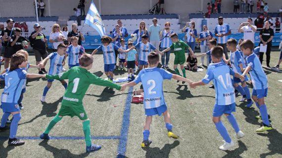 El Málaga CF, primer ganador de la 'Huelva Capital Gañafote Cup' en la categoría Prebenjamín