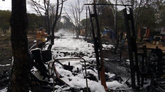 Sofocado un incendio en un poblado de chabolas próximo a Palos