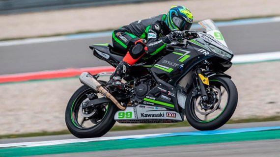 El piloto onubense Paquito Gómez brilla en los entrenamientos del Campeonato del mundo de Superbikes