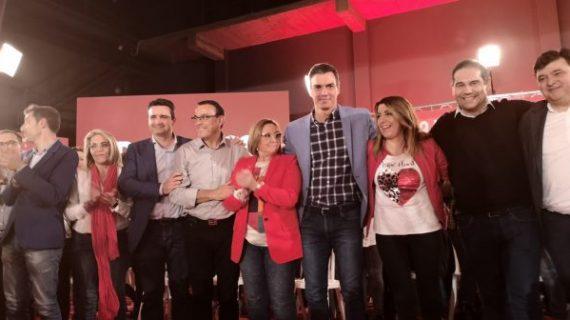 Pedro Sánchez protagoniza un acto de precampaña electoral en Huelva