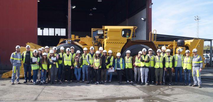 Más de un centenar de estudiantes de la Sierra y el Andévalo conocen el sector minero a través de Matsa