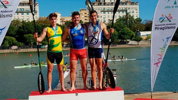 Cuatro medallas conquistó el Real Club Marítimo de Huelva en el Campeonato de Andalucía de Piragüismo de Velocidad