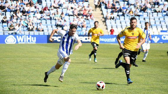 Un gol de Diego Jiménez hace justicia y da tres puntos de oro a un Recre que fue de menos a más
