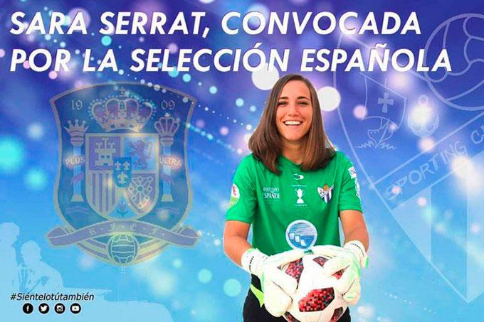 Satisfacción en el Sporting por el debut de Sara Serrat con la selección absoluta y su nueva convocatoria para otro amistoso