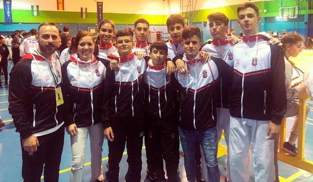 Componentes del TSV Judo Huelva en el Andaluz disputado en Mijas. / Foto: @JudoHuelva1.