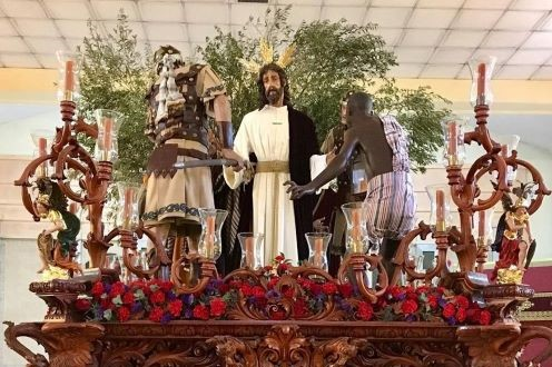 La Barriada del Carmen espera ya la próxima Semana Santa para ver a la Hermandad del Prendimiento en la calle