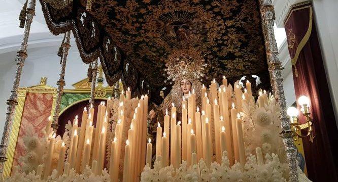 La Virgen de la Esperanza decide realizar su estación de penitencia en el interior su templo con la comprensión de los cofrades