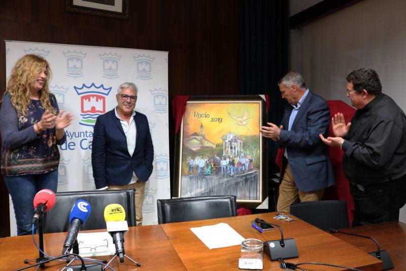 Una pintura de Rafael Mateo anuncia los actos de la Hermandad del Rocío de Cartaya