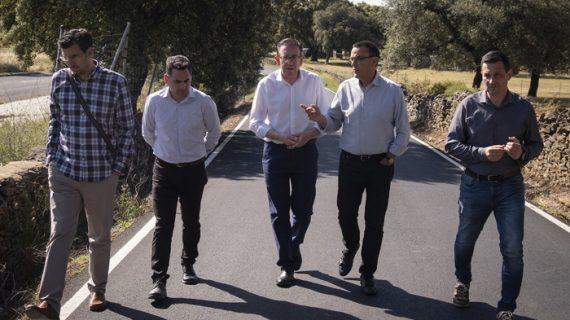 Finalizan las obras de la carretera que une la Nacional 433 con la aldea de Jabuguillo