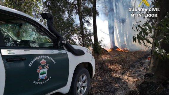 Investigadas dos personas como responsables del incendio de Los Mimbrales en Almonte