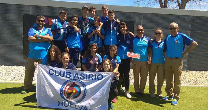 Notable actuación del Club Asirio Huelva en la segunda cita de la Liga Nacional de Tiro con Arco en Madrid