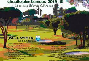 Cartel anunciador del torneo de golf que tendrá lugar en el Club Bellavista este próximo sábado.