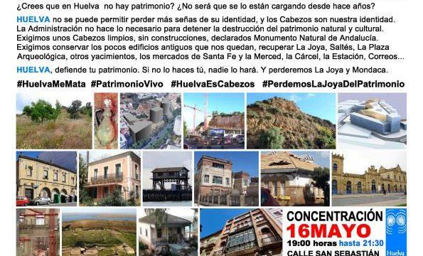 'Huelva te mira' convoca una movilización por el patrimonio onubense en torno a La Joya este jueves 16 de mayo