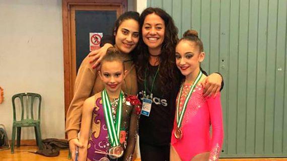 Nuevos éxitos de las deportistas del Gimnasia Rítmica Huelva, ahora en el Campeonato de Andalucía Absoluto