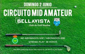 Cartel anunciador del torneo de golf que se disputará el domingo en el Club Bellavista.
