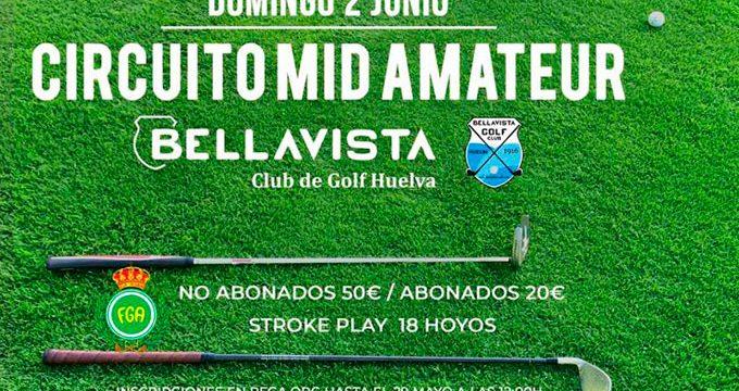 Cita importante el domingo con la disputa del Circuito Mid Amateur Bellavista 2019