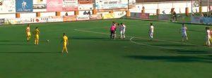 Derrota del Isla Cristina en su visita al Atlético Antoniano. / Foto: Captura TV.
