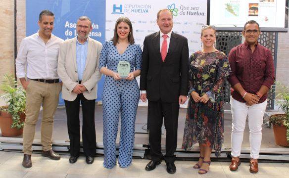 La periodista Raquel Rendón recoge el Premio Huelva de Periodismo 2018