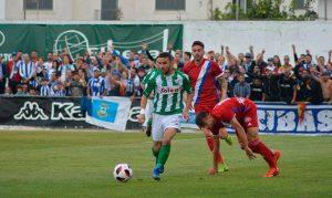 Con esta victoria, el Recre suma ya 20 jornadas sin perder. / Foto: Paco Bernal.