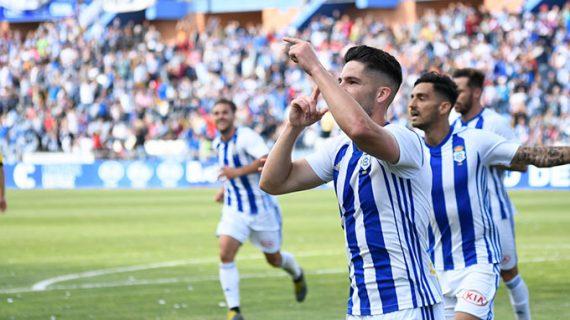 El Recre cumple ganando al Villanovense (1-0) y celebra con su gente que es campeón de grupo
