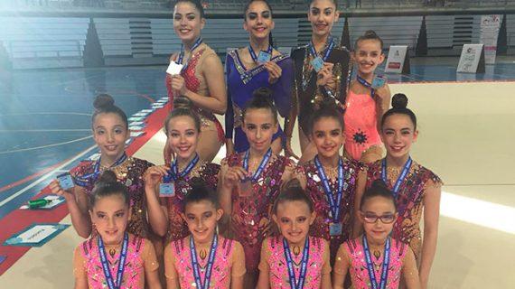 Seis medallas conquistó el Club Rítmico Colombino en el Trofeo Ciudad de Jerez