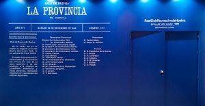 La nueva sala de prensa llevará el nombre de 'La Provincia', y en su entrada hay una reproducción del acta fundacional del Decano. / Foto: @recreoficial.