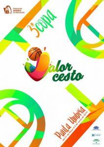 Cartel anunciador de la III Copa de Andalucía de 'Valorcesto' Premini en Punta Umbría.