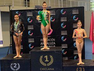 Ángela Martín fue la gran triunfadora proclamándose campeona Individual Infantil Absoluta con dos oros, una plata y un bronce.
