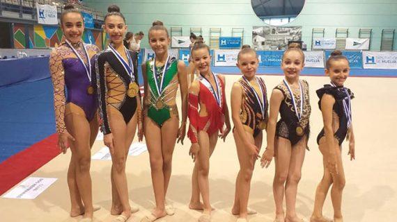 Enorme actuación del Rítmico Colombino en el Trofeo Internacional Diputación con la conquista de 19 medallas