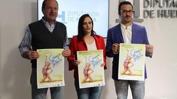 Un total de 450 deportistas se darán cita en Gibraleón en el 33º Trofeo Internacional de Diputación de Gimnasia Rítmica