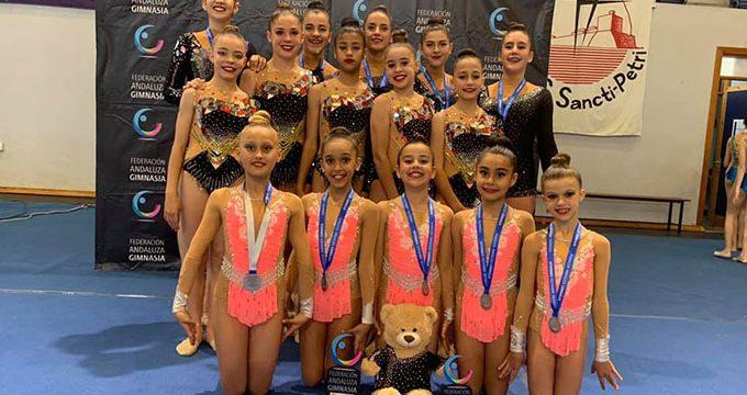 Siete medallas conquistó el Club Rítmico Colombino en el Campeonato de Andalucía