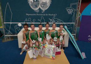 Conjunto Promesa del Rítmico Colombino en el Trofeo Internacional Diputación.