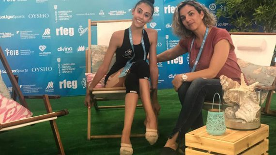 Una ilusionada Ángela Martín acude con ganas al Campeonato de España individual de Gimnasia Rítmica