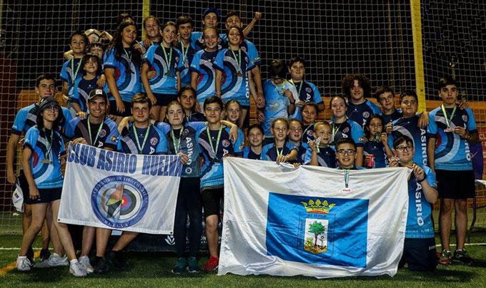 Los arqueros del Club Asirio que participaron en el Campeonato de Andalucía de Menores.