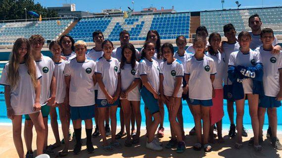 El Club Natación Huelva obtuvo excelentes resultados en una prueba disputada en Loulé