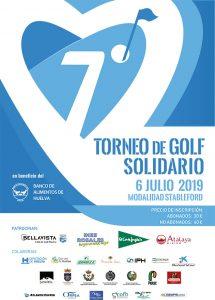 Cartel anunciador del torneo de golf benéfico que se celebrar el 6 de julio en Bellavista.