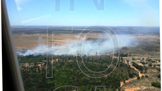 Importante despliegue de medios para sofocar un incendio declarado en Fuente de la Corcha