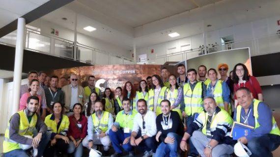 Concluyen los cursos de la Cátedra Atlantic Copper con la visita de 50 alumnos a las instalaciones de la compañía metalúrgica