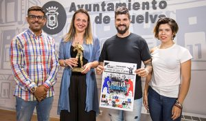 Presentación en el Ayuntamiento de la capital de la I Huelva Boxing Cup, que tendrá lugar el próximo 22 de junio.