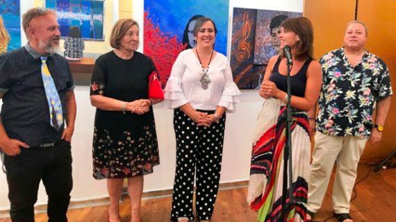 Isla Cristina homenajea a Horacio Noguera en la clausura de los Talleres Municipales de Artes Plásticas