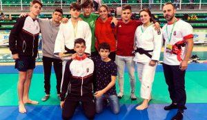 El Junior Javier Pérez, del Huelva TSV Judo, logró la medalla de bronce en la Supercopa de España en Cáceres. / Foto: @JudoHuelva1.